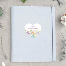 A4 Luxury Wedding Planner/Organiser featuring Personalised Floral Heart - Ideal Engagement Gift